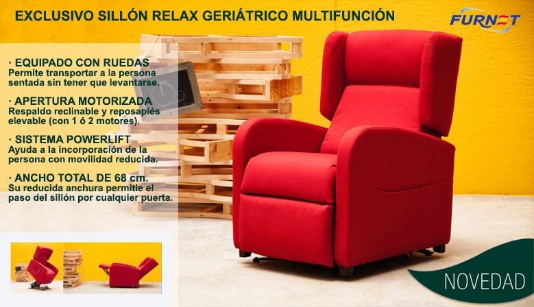 Sill n relax geri trico multifunci n muebles y for Sillon relax con ruedas